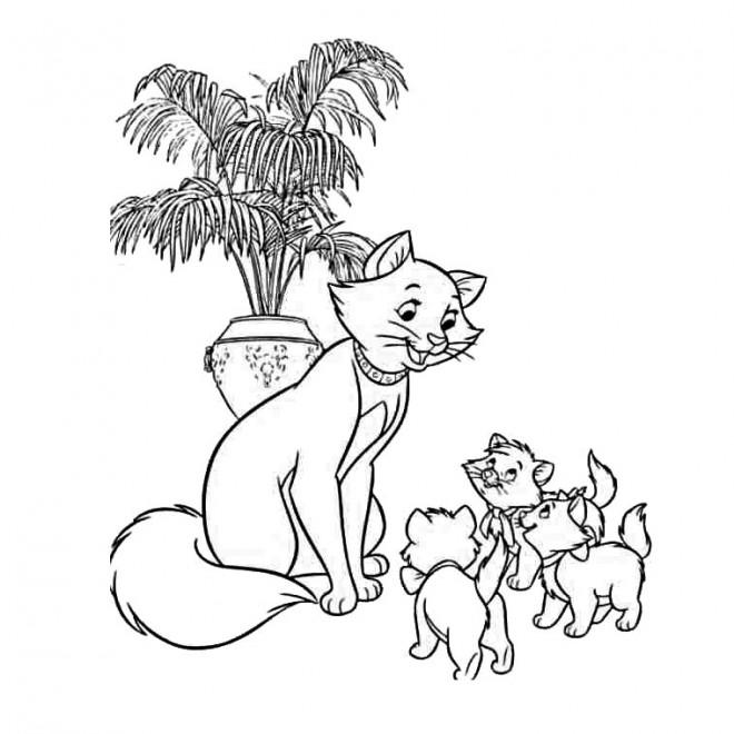 Coloriage et dessins gratuits Duchesse et ses petits à imprimer