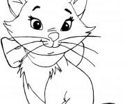 Coloriage et dessins gratuit La mignone Marie à imprimer