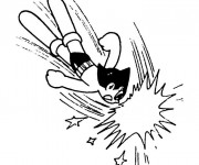 Coloriage Astroboy fâché
