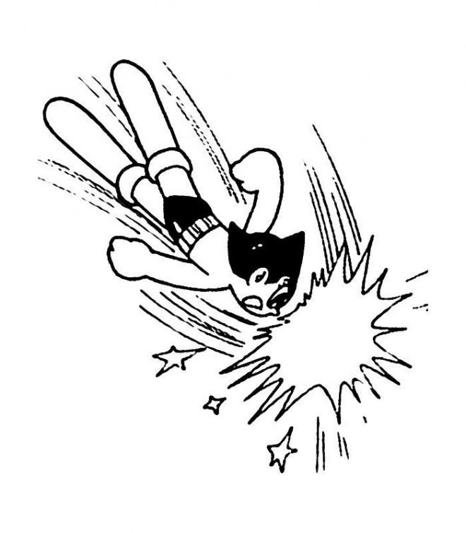 Coloriage et dessins gratuits Astroboy fâché à imprimer