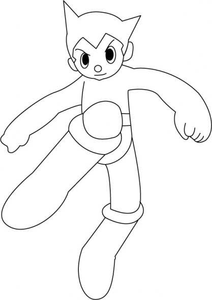 Coloriage et dessins gratuits Astroboy simple à colorier à imprimer