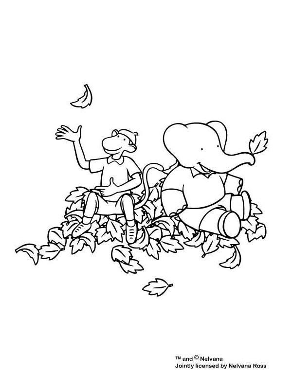 Coloriage et dessins gratuits Babar: Alexandre et Zéphir à imprimer