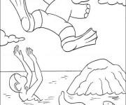 Coloriage et dessins gratuit Babar: Alexandre et Zéphir s'amusent à imprimer