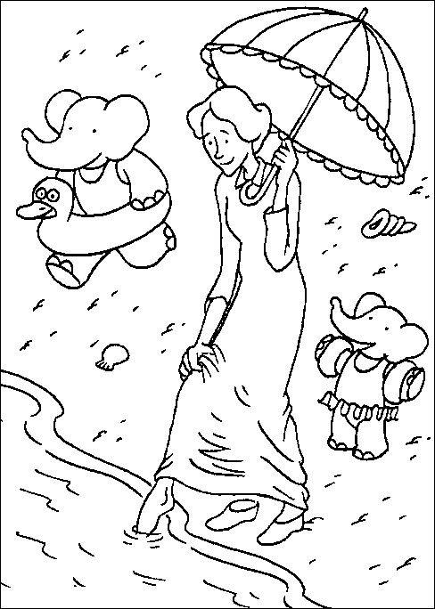 Coloriage et dessins gratuits Babar: Christille à imprimer