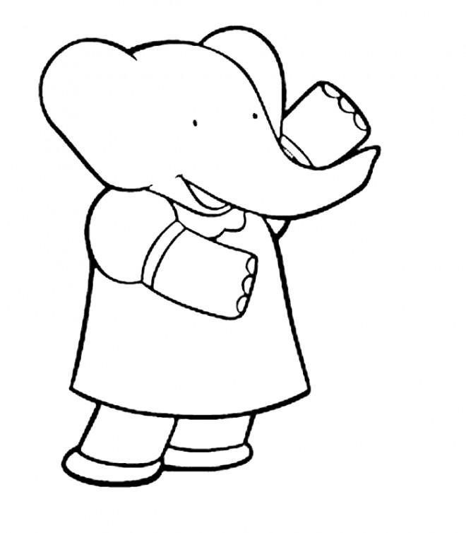 Coloriage et dessins gratuits Babar: Isabelle à imprimer