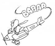 Coloriage et dessins gratuit Babar pilote un avion à imprimer