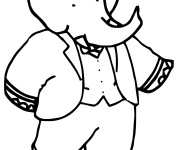 Coloriage Babar simple