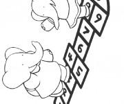 Coloriage et dessins gratuit Isabelle et Flore à imprimer