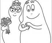 Coloriage et dessins gratuit Barbapapa et Barbamama à imprimer