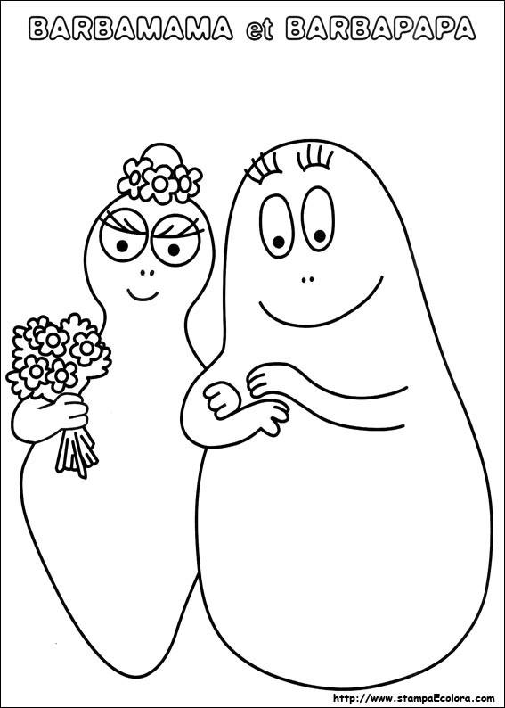 Coloriage barbapapa et barbamama dessin gratuit imprimer - Barbapapa coloriage ...
