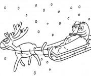 Coloriage et dessins gratuit Barbapapa et Barbamama Noel à imprimer