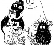 Coloriage Barbapapa famille