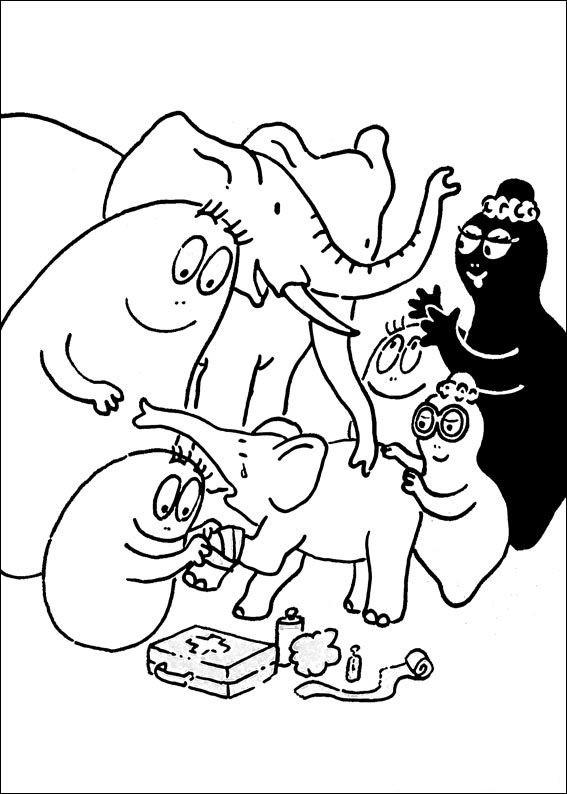 Coloriage et dessins gratuits Barbapapa s'amuse à imprimer