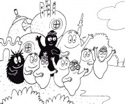 Coloriage Barbapapas à colorier