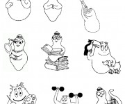 Coloriage Barbapapa
