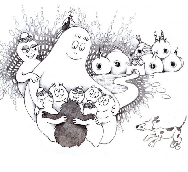 Coloriage et dessins gratuits Les Barbapapa à imprimer