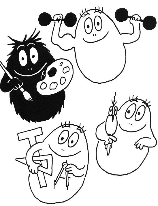Coloriage et dessins gratuits Les petits Barbapapa à imprimer