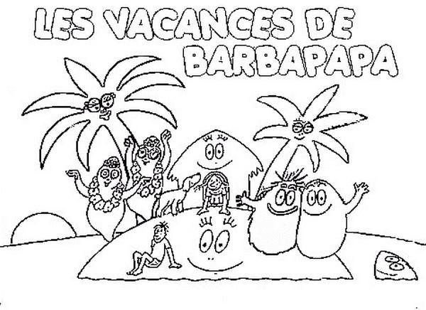 Coloriage et dessins gratuits Les vacances de Barbapapa à imprimer