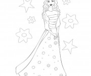 Coloriage dessin  Barbie 9