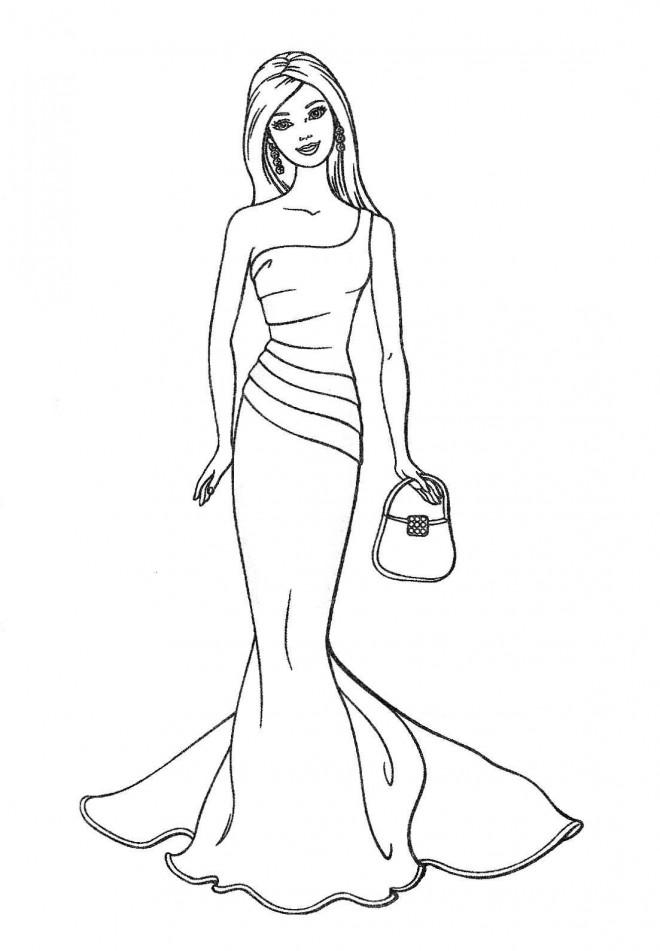 Coloriage barbie au bal dessin gratuit imprimer - Coloriage gratuit a imprimer barbie ...