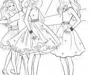 Coloriage Barbie ballerina