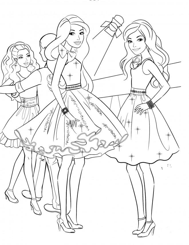 Très Coloriage Barbie ballerina dessin gratuit à imprimer WK96