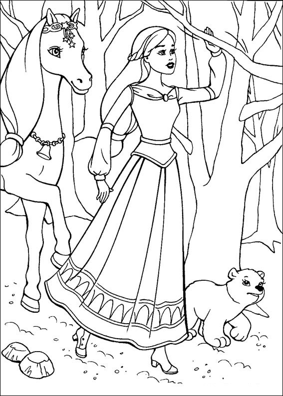 Coloriage barbie cheval dessin gratuit imprimer - Dessin anime barbie princesse ...
