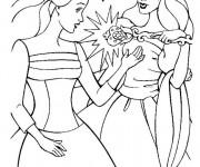 Coloriage Barbie coeur de princesse