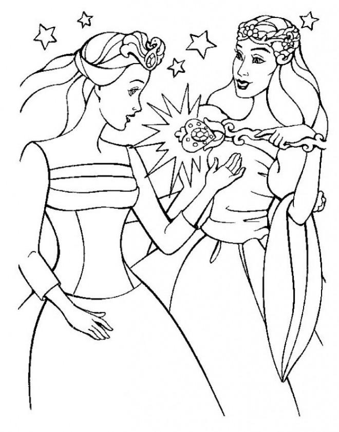 Coloriage Barbie Coeur De Princesse Dessin Gratuit à Imprimer