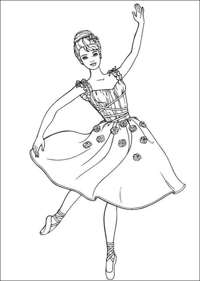 Coloriage et dessins gratuits Barbie danseuse à imprimer