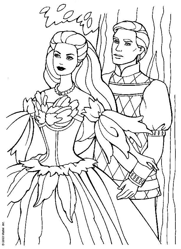 Coloriage et dessins gratuits Barbie et Ken à imprimer