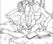 Coloriage Barbie et sa fille