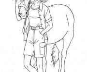 Coloriage Barbie et son cheval en ligne