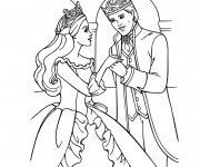 Coloriage Barbie et son prince