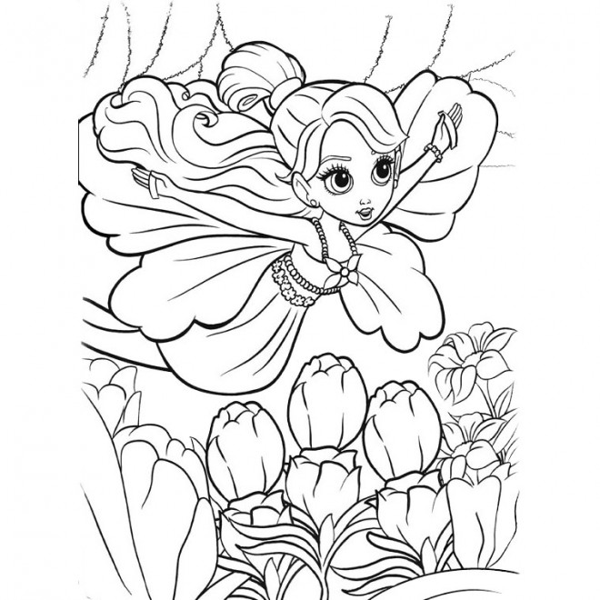 Coloriage magique barbie fee - Coloriage barbie fee ...