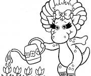 Coloriage et dessins gratuit Baby Bop: Barney à imprimer