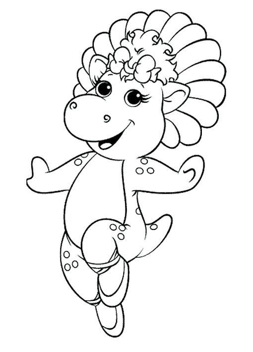 Coloriage et dessins gratuits Baby Bop danse à imprimer
