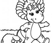 Coloriage Baby Bop se  balade avec son mouton