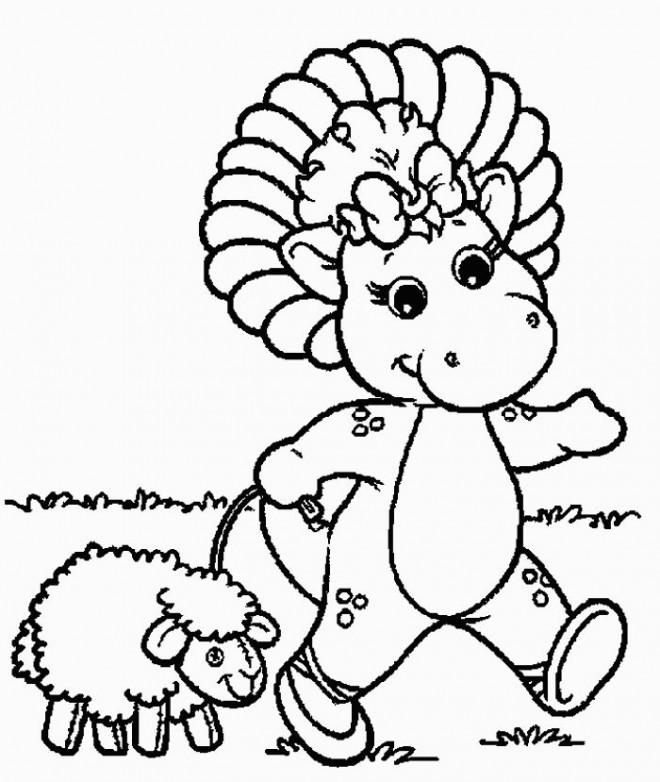 Coloriage et dessins gratuits Baby Bop se promène à imprimer
