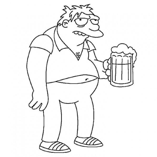 Coloriage et dessins gratuits Barney 19 à imprimer