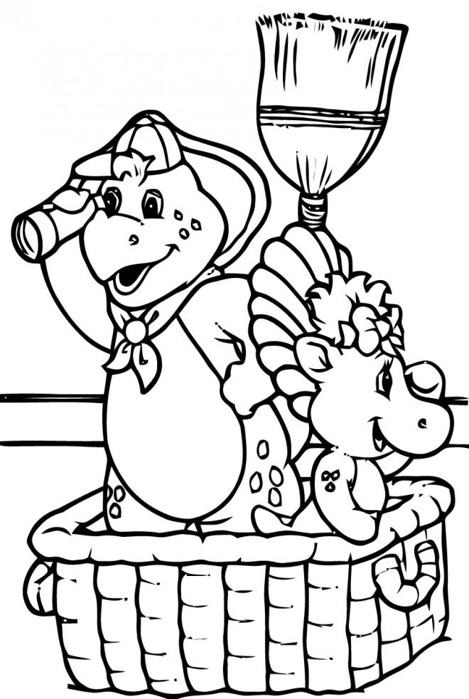 Coloriage et dessins gratuits Barney à imprimer
