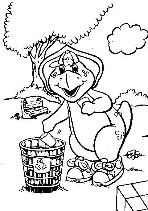 Coloriage et dessins gratuits Barney BJ à imprimer