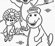 Coloriage et dessins gratuit Barney, Bj et Baby Bop à imprimer