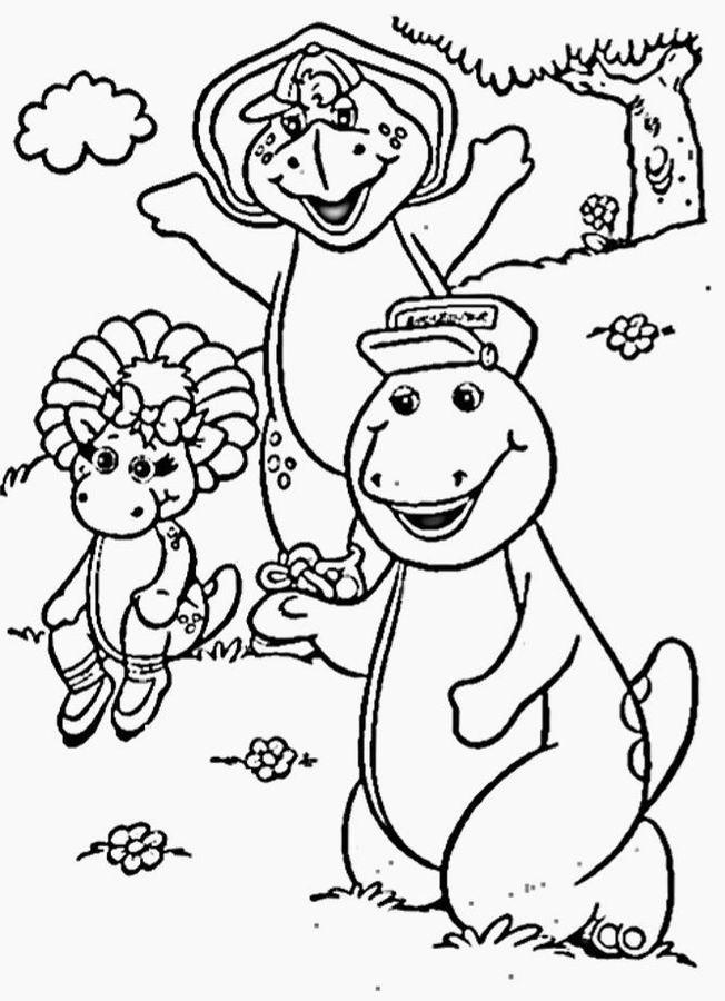 Coloriage et dessins gratuits Barney, Bj et Baby Bop à imprimer