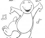 Coloriage et dessins gratuit Barney danse à imprimer