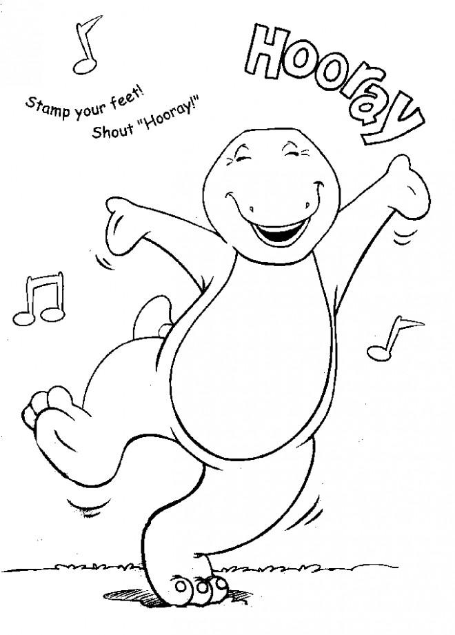 Coloriage et dessins gratuits Barney danse à imprimer