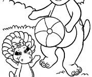 Coloriage et dessins gratuit Barney et Baby Bop à imprimer
