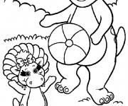 Coloriage Barney et Baby Bop