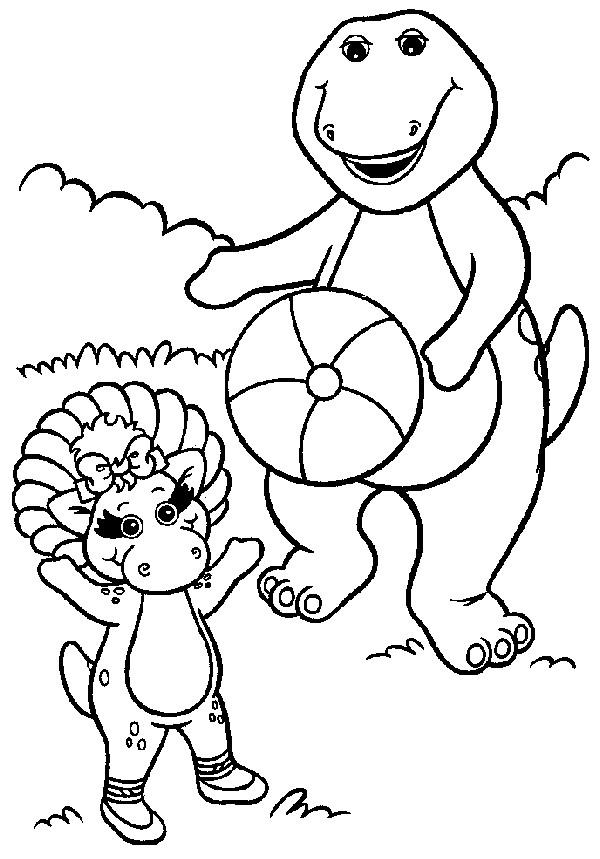 Coloriage et dessins gratuits Barney et Baby Bop à imprimer