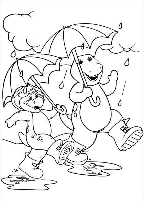 Coloriage et dessins gratuits Barney et Bj: facile à colorier à imprimer